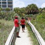 Private beach access...