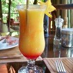 Scrumptious passionfruit smoothie!