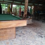 Pool table, ping pong, and bar