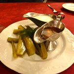 Dill Pickles with Honey and Sour Cream - strange but good!!