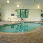 piscine intérieur et bain tourbillon