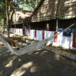 Zie me dat eens... plots een hangmat voor onze bungalo