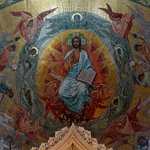 Mosaic in the apse, Church of Our Savior on Spilled Blood