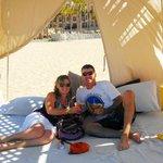 beach bed, aka cabana...awesome day!