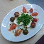 Fresh mozzarella, basil, and tomato salad