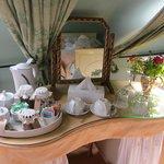 Tea/coffee tray in room