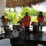 Steel band at lunch