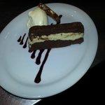 Double Chocolate Terrine, Peanut Brittle & Devon Clotted Cream