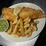 Battered Cod, Chips & Mushy Peas