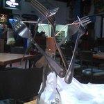 Six floating forks