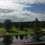 View from second floor balcony of golf course