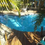 Sweet love heart shaped pool