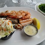 Wood grilled seafood