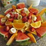 Breakfast fruit tray!