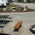 Nice build in benches at fire pits