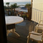 large patio overlooking pool and bar and also the beach from the penthouse suite!