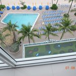 A Look Down On The Pools From The 8th Floor
