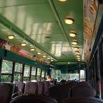 Inside of Trolley ride
