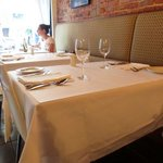 Casual dining with clean, crisp linens