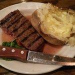 Lunch steak meal