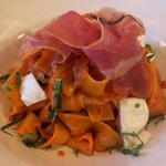 Pappardelle with prosciutto