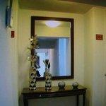 Pasadizo de las habitaciones del Hotel Tierra Viva