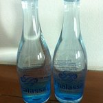 complimentary water bottles