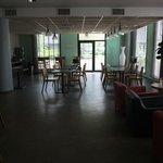 Reception area and breakfast area