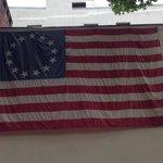 外壁の星条旗