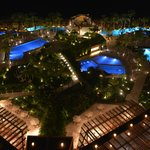Night Pool area view from room