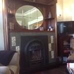 Beautiful fireplace in sitting area