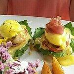 Eggs Benedict we're fabulous!