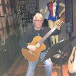 Guitar music in wine bar