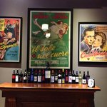 Movie posters in the wine bar