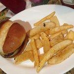 children's cheeseburger and fries