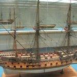 Ship model - Medway (1742) of 60 guns.