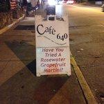 Cafe 640 street sign
