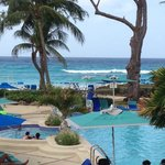 View from our balcony at Turtle Beach Barbados