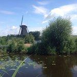Een van de molens in Kinderdijk.