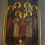 "Icon of the now ""sainted"" family of Czar Nicholas II"