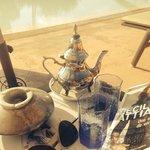 Thé a la menthe au bord de la piscine