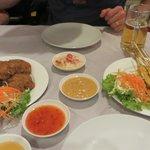 Shrimp Cakes and Chicken Satay