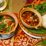 The gilled fish and beef dishes