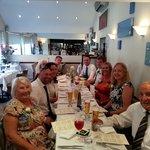 a wonderful wedding meal at Bistro 21