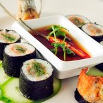 Garfish and Prawn Nori Rolls