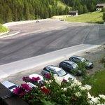 Aussicht auf Parkplatz