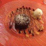 MI CUIT parfait au chocolat avec sa boule de glace