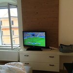 Nice TV with HD channels. Cozy to stay in at a rainy night.