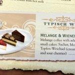 My Trio cake Dessert on the card