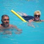 bobby & lynne in pool